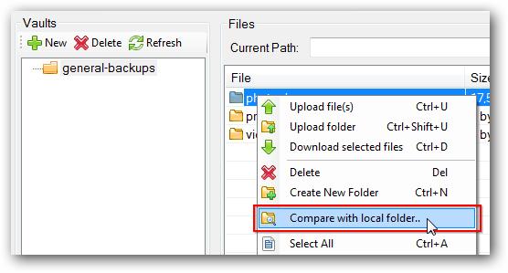 Select the folder