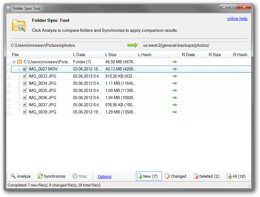 Folder Sync Tool